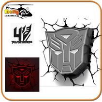 Luminaria 3D Light Transformers Escudo Autoboots com Led